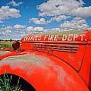 Shaniko Fire Truck Art Print