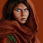 Sharbat Gula Art Print