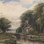 Shardlow Lock With The Lock Keepers Cottage Art Print
