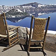 Share A Moment At Crater Lake Oregon Art Print