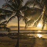Sharks Cove Sunset 2 - Oahu Hawaii Art Print