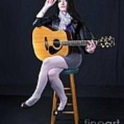 Sharon With Guitar Art Print