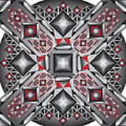 Sharp Optical Art J Art Print
