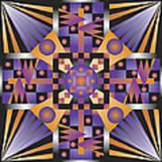 Sharp Optical Art Q Art Print
