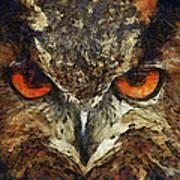 Sharpie Owl Art Print by Ayse Deniz