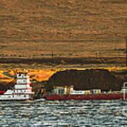 Shaver Tug On The Columbia River Art Print