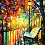 She Left... - Palette Knife Oil Painting On Canvas By Leonid Afremov Art Print