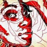 She Pop Art Rose Art Print