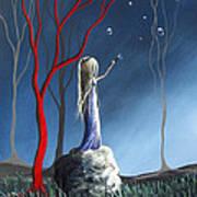 She Whispers Her Dreams By Shawna Erback Art Print