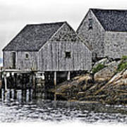 Sheds At Peggys Cove Art Print
