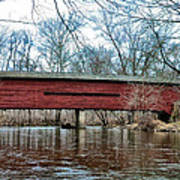 Sheeder - Hall - Covered Bridge Chester County Pa Art Print