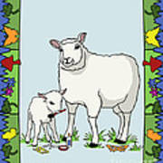Sheep Artist Sheep Art II Art Print