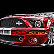 Shelby On Fire Art Print