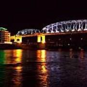 Shelby Street Bridge At Night Art Print by Dan Sproul