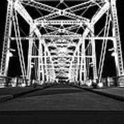 Shelby Street Bridge At Night In Nashville Art Print