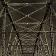 Shelby Street Bridge Details Nashville Art Print