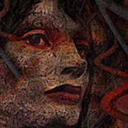 Shell Cyborg Portrait Art Print