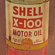 Shell Motor Oil Art Print by Michelle Calkins