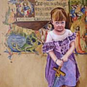 She'll Slay Her Own Dragons Art Print