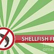 Shellfish Free Banner Art Print