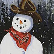 Shelly's Snowman Art Print