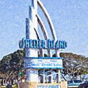 Shelter Island Sign San Diego California Usa Art Print