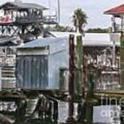 Shem Creek Dockage Art Print