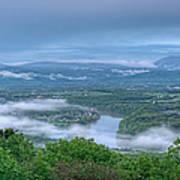 Shenandoah Evening Fog Print by Lara Ellis