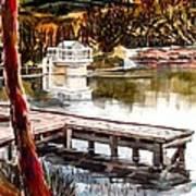Shepherd Mountain Lake Bright Art Print by Kip DeVore