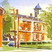 Sheriffs Residence With Courthouse II Art Print