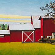 Sherman Squash Farm Art Print