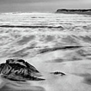 Shifting Sands On Ocracoke Outer Banks Bw Art Print