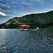 Shikara In Manasbal Lake Art Print