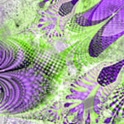 Shimmering Joy Abstract Digital Art Art Print
