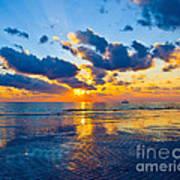 Shimmering Sundown Art Print