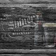 Shiner Black Lager Art Print