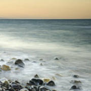 Shiny Rocks At The Sea Art Print