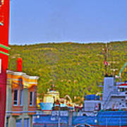 Ship At The End Of Water Street In Saint John's-nl Art Print