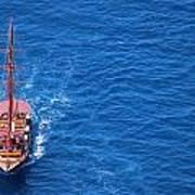 Ship By The Meditteranean Sea Art Print