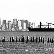 Ship In The Harbor 1990s Art Print