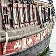 Ship In The Water. Art Print by Slavica Koceva