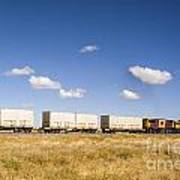 Shipping Containers On The Move By Train Art Print by Colin and Linda McKie