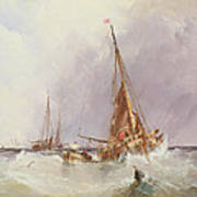 Shipping In The Solent 19th Century Art Print
