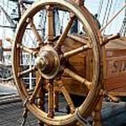 Ship's Helm Art Print