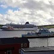Ships In Lerwick Harbour Art Print