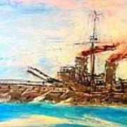 Ship's Portrait - Hms Dreadnought 1908 Art Print