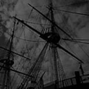 Ships Silhouette Art Print