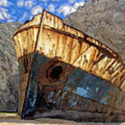 Shipwreck At Smugglers Cove Art Print