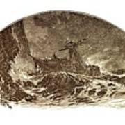 Shipwreck Illustration Art Print