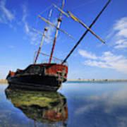 Shipwreck In Lake Ontario  Ontario Art Print